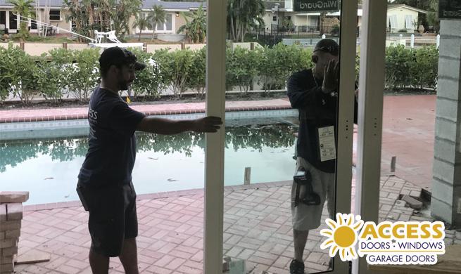 Boca Raton Impact Door Installation